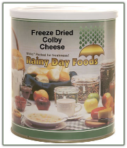 Freeze Dried Colby Cheese #10 can