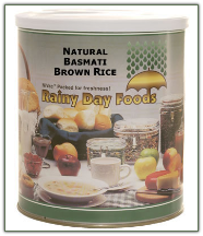 Natural Basmati Brown Rice #10 can