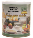 Natural Hulled Buckwheat #10 can