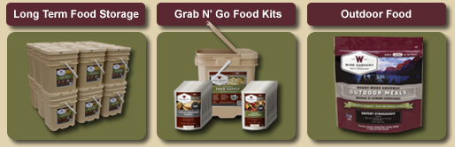 Long Term Food Storage, Grab N' Go Food Kits, and Outdoor Food